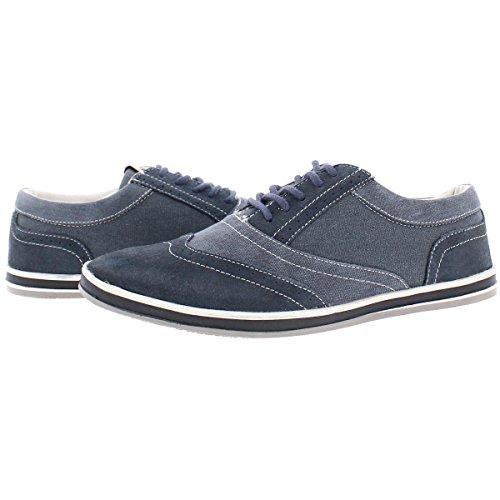 Steve Madden Mens Distille2 Suede Vleugeltip Mode Sneakers Blauw