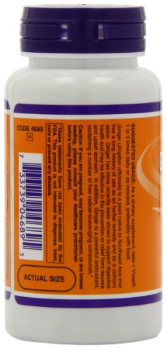 NOW Ginger Root Extract 250 mg,90 Veg Capsules