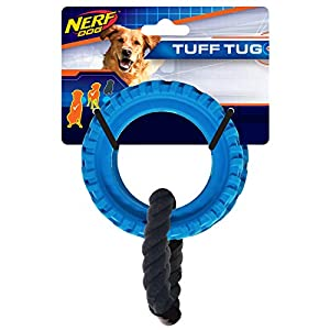 Nerf Dog Tire Wheel Tug Dog Toy, Lightweight, Durable and Water Resistant, 13 Inches, for Medium/Large Breeds, Single… Click on image for further info.