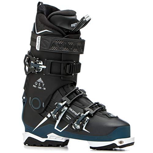 SALOMON QST Pro 100 TR Ski Boots - 28.5/Black-Petrol Blue-White (Best Grunt Calls 2019)