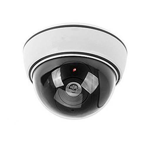 Etopars Simulated Dome Fake Dummy Security CCTV Camera Waterproof IR LED Flashing Red Light Outdoor Indoor Surveillance Guard