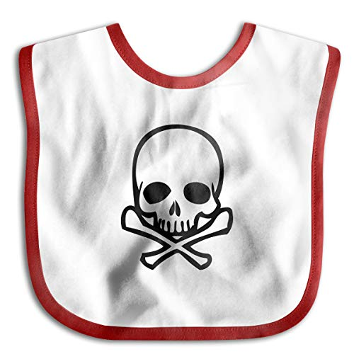 Skull Cross Bone Funny Baby Bibs Burp Infant Cloths Drool Toddler Teething Soft Absorbent