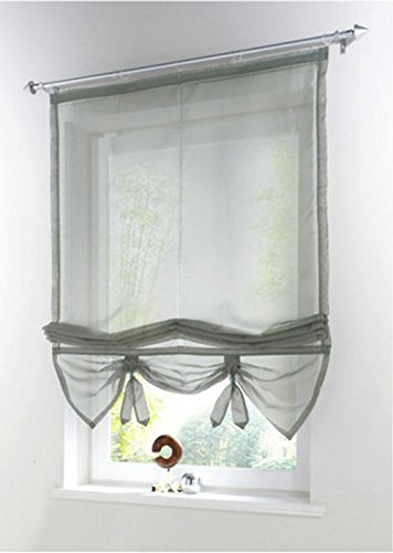Uphome Liftable Organza Kitchen Curtains