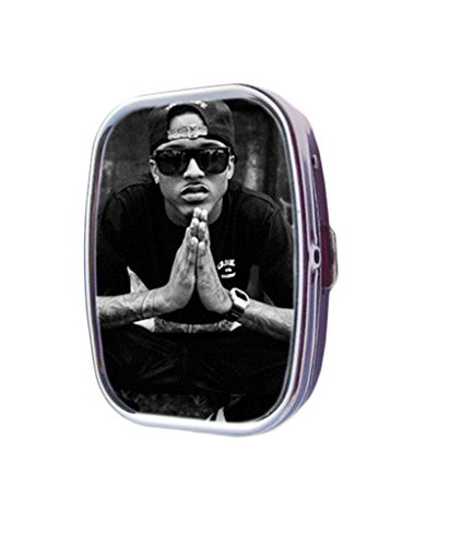 august alsina sunglasses Custom Silver Square Pill Box Medicine Tablet Organizer or Coin - Glasses August Alsina