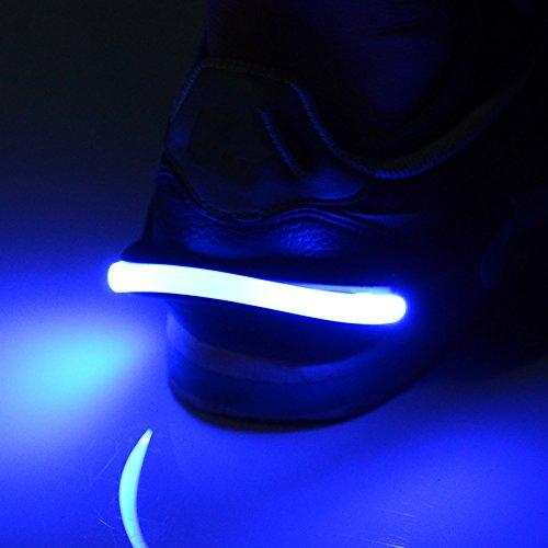 Night Safety LED Shoe Lights Clip (2-Pack) Warning Bike Cycling Running Jogging