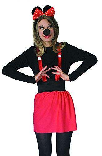 Mouse Costume Mascot Adult (Rubie's Women's Mouse Costume Kit, As Shown, One Size)
