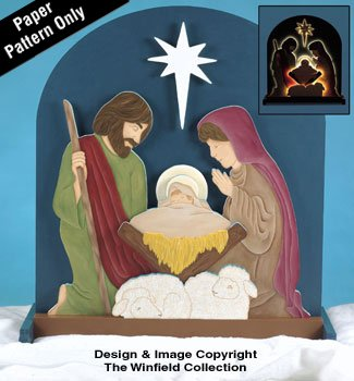 Amazon Com Glowing Nativity Woodcraft Plans