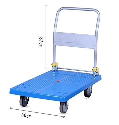 Zehaer Portable Trolley, ZGL Trolley Multifunction Silent Flatbed Truck 4 Rounds Trolley Handling Trolley Pull Goods Trailer Light Trolley Hand Car (Size : S) (Size : Large) by Zehaer (Image #1)