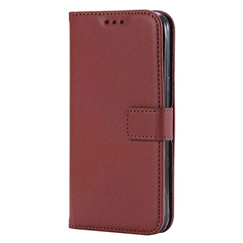UNEXTATI Galaxy J1 2016 Case, Leather Magnetic Closure Flip Wallet Case with Card Slot and Wrist Strap, Slim Full Body Protective Case (Brown #6) by UNEXTATI (Image #2)