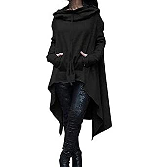 Aster Moon Shop Loose Hoody Mantle Hooded Pullover Outweat Coat Vestidos Sudaderas Mujer at Amazon Womens Coats Shop