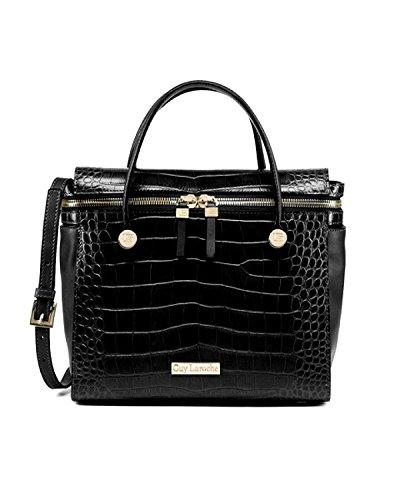 Guy Laroche Damen Tasche Leder Taschen Geldbörse Abendtasche Umhängetasche black