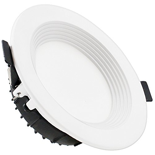 Led drop ceiling lights amazon 4 dimmable led retrofit recessed light slim remodel led downlight with reflector trim 12w 90w halogen equiv 800lm frosted glass lens ceiling light mozeypictures Images
