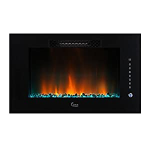 Caesar Luxury Linear Wall Mount Recess Freestanding Multicolor Flame Electric
