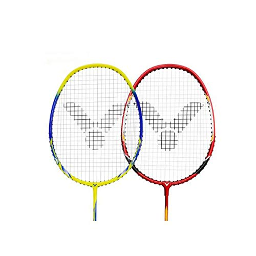 Tongboshi Badminton Racket, Double Shot, Offensive Full Carbon Badminton Racket, Aluminum Alloy Badminton Racket Badminton Racket, (Edition : C) by Tongboshi (Image #1)