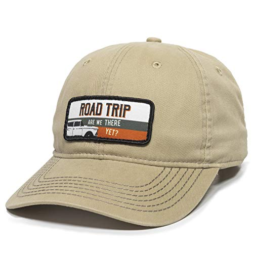 Road Trip Dad Hat - Adjustable Polo Style Baseball Cap for Men & Women (Khaki)