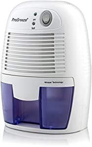 Pro Breeze Electric Dehumidifier, 1100 Cubic Feet, Compact and Portable for Damp Air, Mold, Moisture in Home, Kitchen, Bedroom, Basement, Caravan, Office, Garage