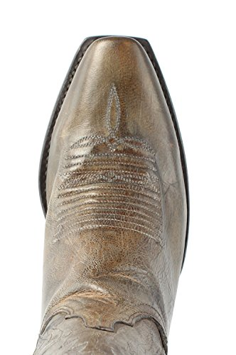 74 Pearl Bone N4770 Distrsd Womens Cowboy Lucchese Leather Antique Boots Western CWg5qgI
