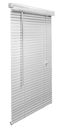 Lotus & Windoware 1-Inch PVC Miniblind, 54 by 48-Inch, White (Inside Roller Blind Brackets)