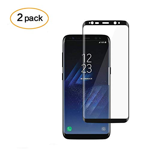 [2PACK] Galaxy S8 Plus Screen Protector, DeFitch Full Screen Coverage 3D Anti-Scratch 9H Hardness Ultra HD Screen Protector Film Compatible with Samsung Galaxy S8 Plus (Black) by DeFitch