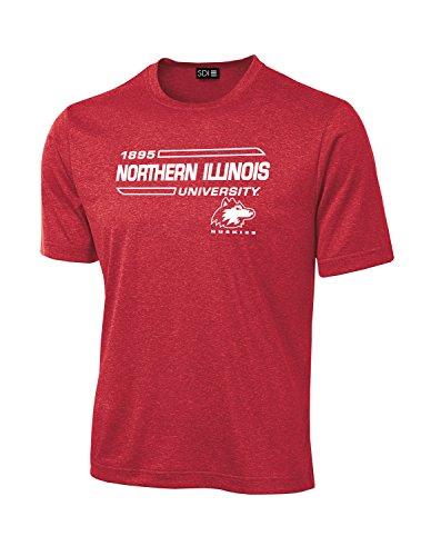 NCAA Northern Illinois Huskies University Tech Performance T-Shirt, Large, Red