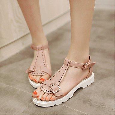 LvYuan Mujer-Tacón Plano-Otro Confort Innovador Zapatos del club-Sandalias-Vestido Informal Fiesta y Noche-Materiales Personalizados Semicuero- beige
