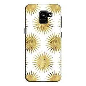 Cover It Up - Gold White Star Galaxy A7 2018 Hard Case