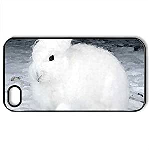 ARCTIC RABBIT - Case Cover for iPhone 4 and 4s (Watercolor style, Black)