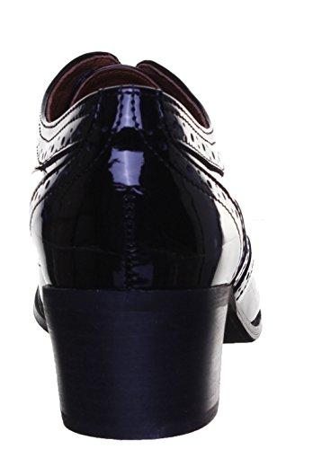 Justin Reece - Botas de piel mate para mujer Black Patent PN12