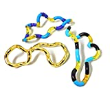 Set of 3 - Tangle Jr. Combo Pack - Hand Therapy fidget, relaxation, sensory toy for special needs, ADHD, autism (Blue)