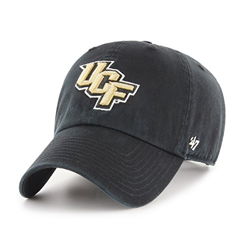 NCAA Central Florida Golden Knights Clean Up Adjustable Hat, One Size, Black - Central Florida Baseball