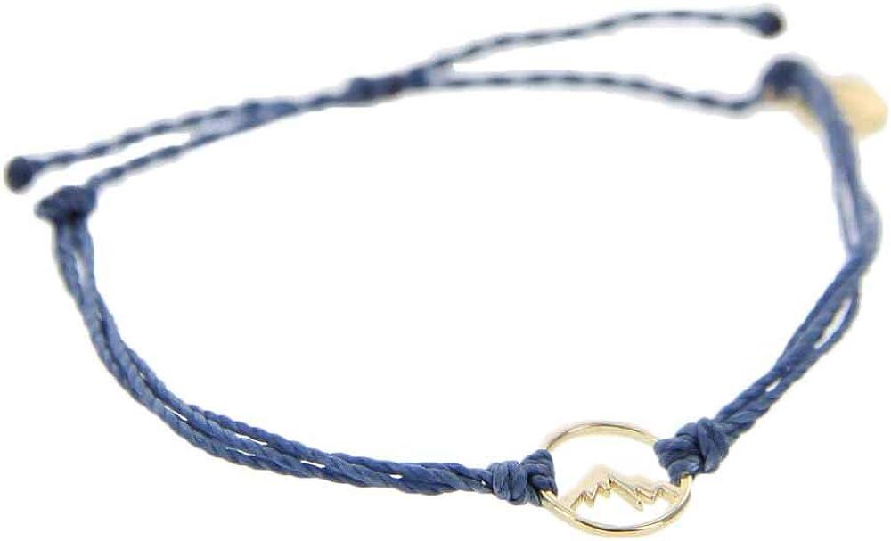 Gold-Plated Charm 100/% Waterproof Pura Vida Gold Sierra Bracelet Adjustable Band