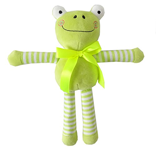 Diconna Baby Soft Rattle Toy Newborn Plush Animal Toys Stroller Pram Bed Hanging Toy Dolls (Green Frog)