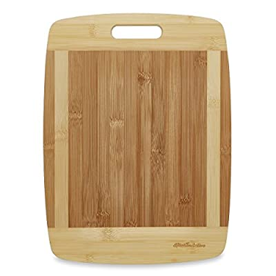 Kitchen Active Bamboo Cutting Board. Premium Natural Bamboo Boards Are Best For Chopping Brie Cheese, Vegetable, Pastry Lemon, Watermelon, French Bread & More. With Big Wood One Handed Handle