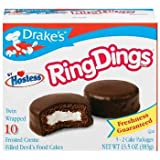Drake's by Hostess 10 ct Ring Dings Frosted Creme Filled Devil's Cakes 13.5 oz (Pack of 6)