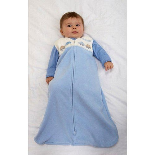 Applique Sleepsack - Halo 1766 Blue Fleece Car Applique SM
