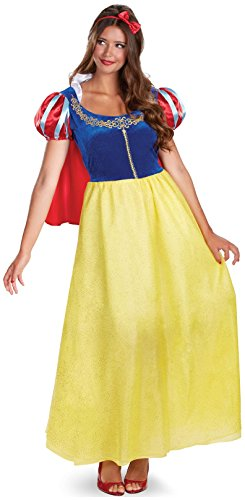 Disguise Women's Disney Snow White Deluxe Costume, Yellow/Red/Blue, (Disney Costumes Sale)