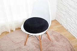 Aeris Memory Foam Donut Seat Cushion - Queen Size - Machine Washable Black Plush Velour Cover