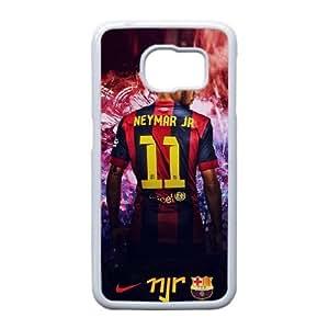 Neymar H3K1Fe Funda Samsung Galaxy S6 Funda caja del teléfono celular blanco K3V4BB funda protectora a medida caja del teléfono celular