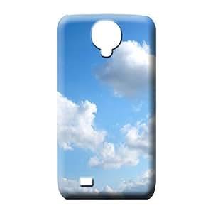 samsung galaxy s4 phone cover skin Premium First-class phone Hard Cases With Fashion Design sky blue air white cloud