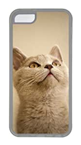 Customized Case Small cat TPU Transparent for Apple iPhone 5C