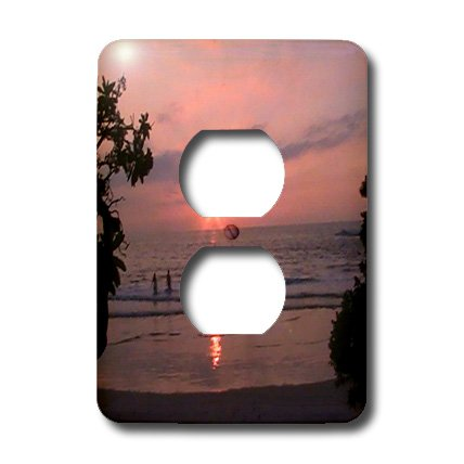 lsp_6075_6 Sandy Mertens Hawaii Travel Designs - Hawaiian Sunset - Light Switch Covers - 2 plug outlet cover by 3dRose