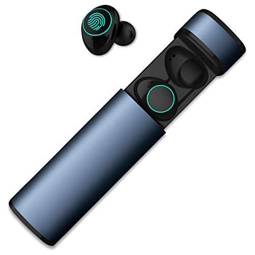 chollos oferta descuentos barato HolyHigh Auriculares Bluetooth Inalámbricos Cacos Bluetooth 5 0 Auriculares Inalambricos con Caja de Carga y Micrófono a Prueba de Agua Sudor