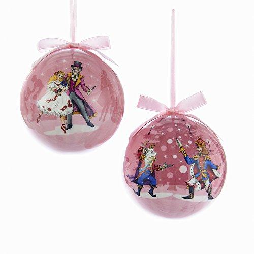 Kurt Adler 80mm Nutcracker Ballet Decoupage Styrofoam Ball Ornament 2/asstd (Nutcracker Ornament Ballet)