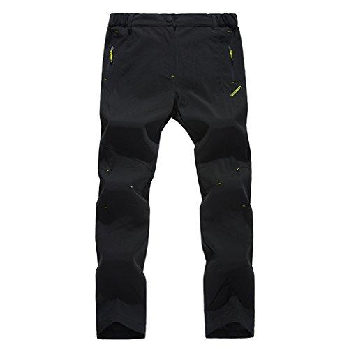 Modern Fantasy Mens Waterproof UV Elastic Fleece Outdoor Climbing Pants Black Size US S