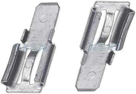F2 to F1 from 6.35mm to 4.74mm 2x Clamp adapter Terminal for lead battery