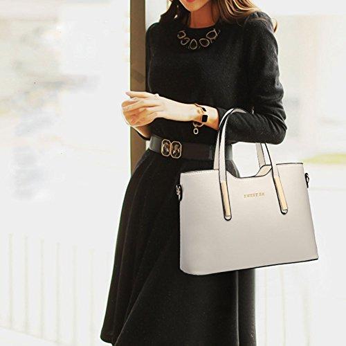 PU Sac 14 Affaire Cabas Bandouliere Taille Main Mode Femme Cuir A CM 24 Blanc Sac Fourre 33 Porté Shopping Epaule Tout wealsex 5 qIU6dI