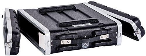 Durable Fly Drive Case -2u Space ABS Molded for Tough Durable Case For 19-Inch Amplifier/DJ Effects Unit including Mounting Screw ABS Molded for Tough Durable Interior and Exterior DEEJAY LED TBH2UABS