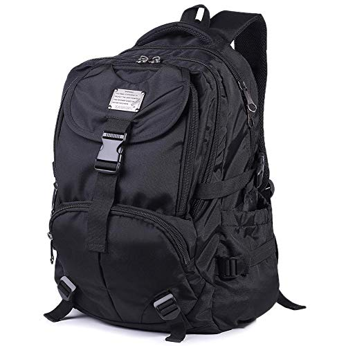 (Mooedcoe Large Multipurpose Water-Repellent Backpack Satchel Daypack for Hiking Camping Travel with Laptop Compartment)