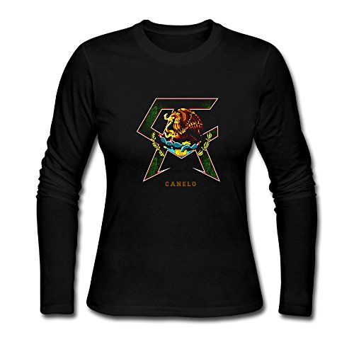 Price comparison product image USM-Women's Canelo Alvarez Boxer Long Sleeved T Shirt Shirt.