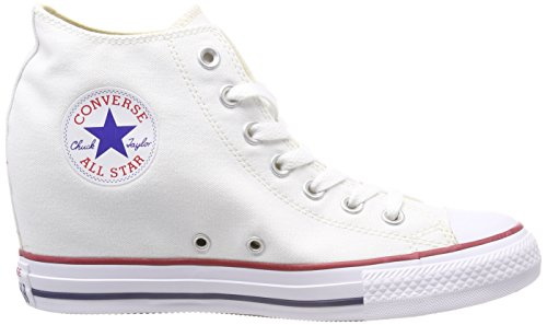 100 Converse Adulte Lux Mid white Mixte Blanc Basses Baskets 8UC8pq